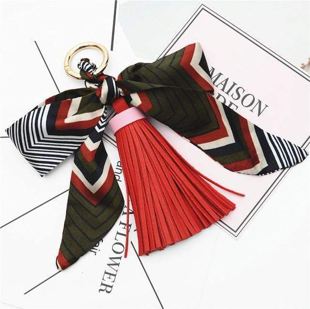 Scarf and Tassel Accessory Red - Pursh Collection