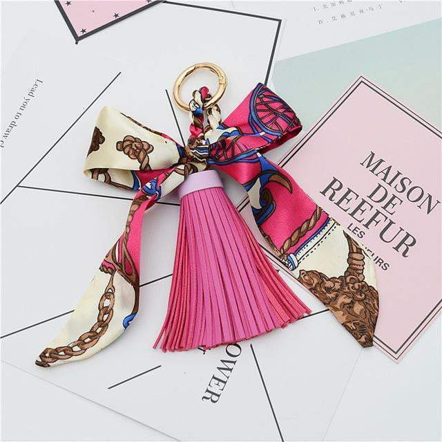 Scarf and Tassel Accessory Rose - Pursh Collection