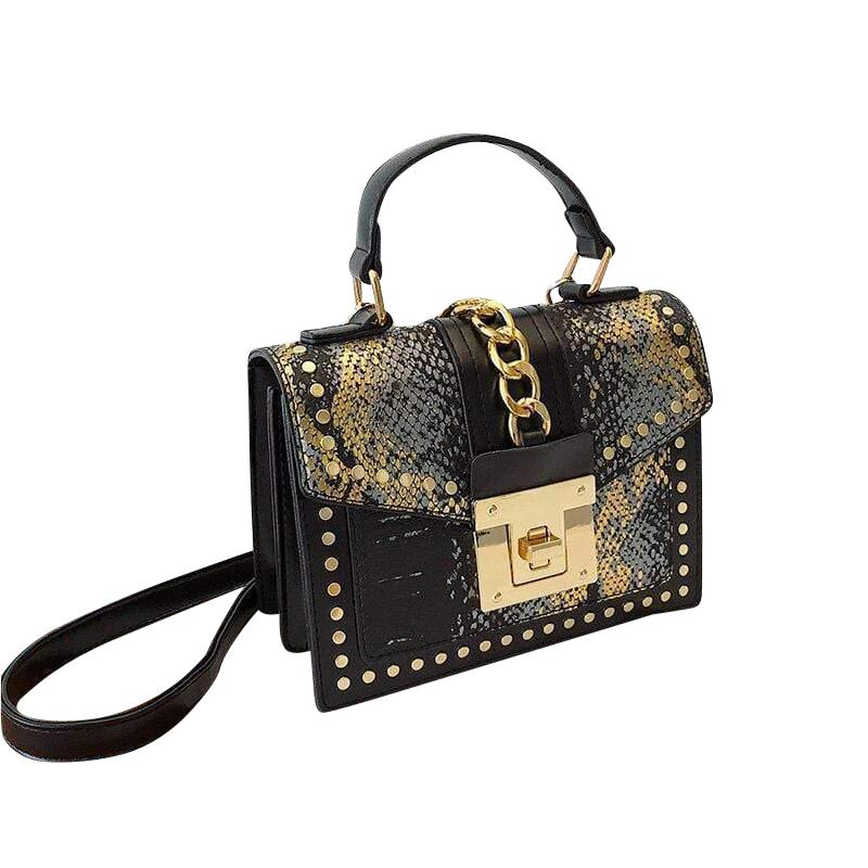 Seraphina Purse Black/Gold - Pursh Collection