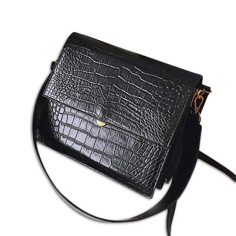 Sophi Purse Midnight Crocodile - Pursh Collection