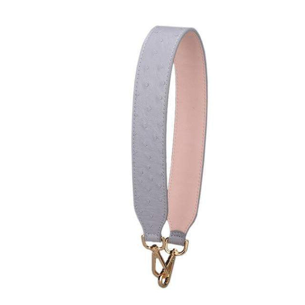 Strap In Accessory Gray Ostrich - Pursh Collection