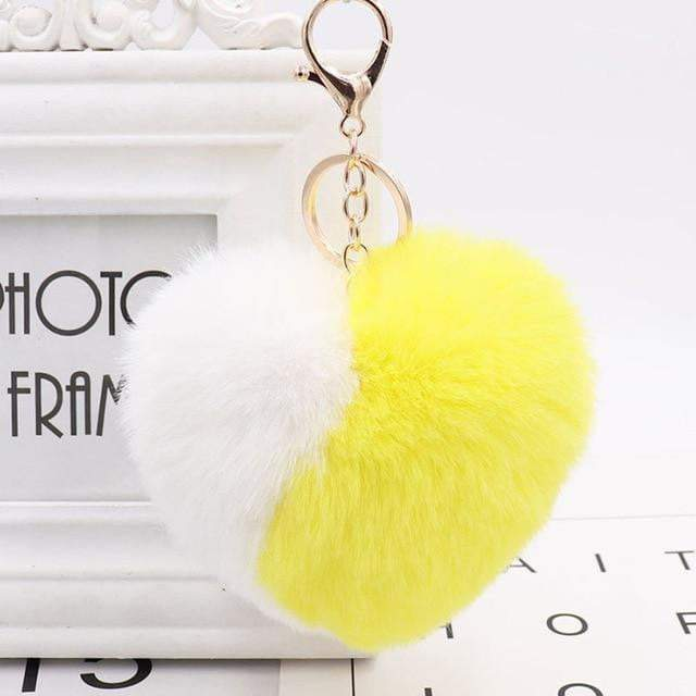Wear Your Heart on Your Strap Accessory Yellow - Pursh Collection
