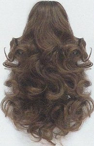 Short Curly Ponytail w/Claw Clip - Dawn