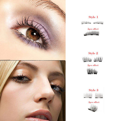 Reusable 3D Mink Magnetic Eyelashes Dual & Triple Magnets Ultra Lightweight