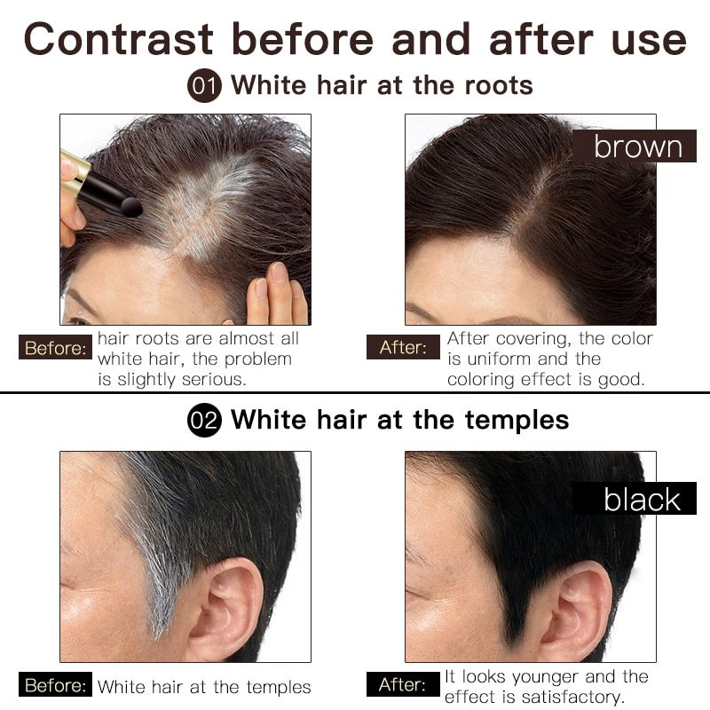 Instant Gray Root Coverage Made with Beeswax, Works for Men and Women