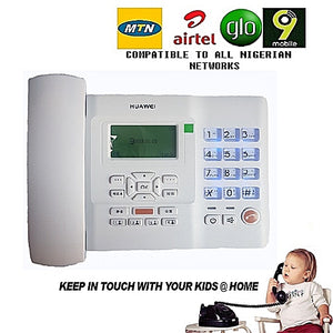 Huawei GSM Desktop Phone/Office Phone It Accepts All Nigeria Network Standard SIM Cards.