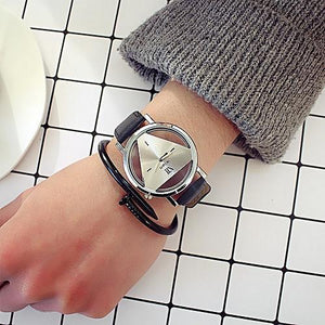 Wilon Triangle Wristwatch Male Female- Unisex Wristwatch