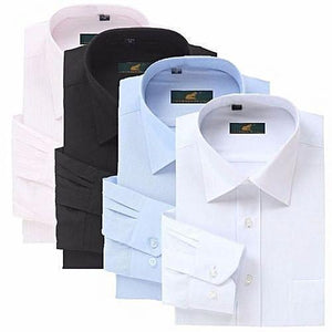 Fashion Classy 4 In 1 Shirts For Men - Black, White, Sky Blue And Pink