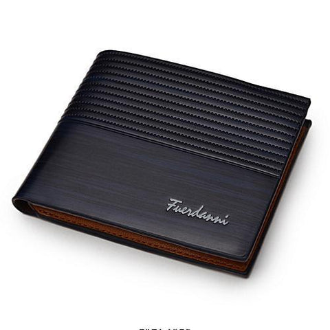 Fuerdanni Classy Men's Executive Wallet With Multiple Card Slots - Blue/black