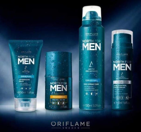 Deo North Men Total Skin, Face and Body Care - Contains 4 Different Items