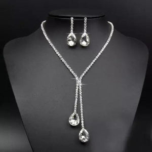 Fashion Rhinestone Crystal Jewellery Set Necklace and Earring Set