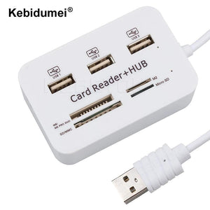 Multi USB Splitter Hub USB Combo All In One 3 Ports Micro USB Hub 2.0 Combo Card Reader for PC Computer Accessories High Speed