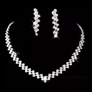 Women Prom Necklace and Earring Set