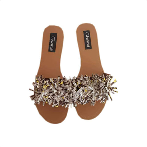 Supernova Female Flat Slippers With Flowers