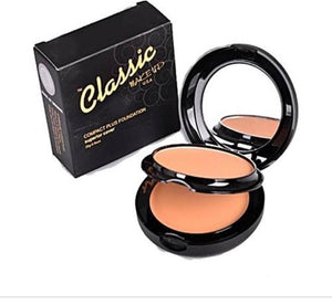 Classic Makeup Compact Powder and Foundation (2 in1)