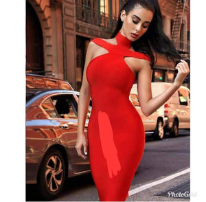 Classic Female Dress - Red