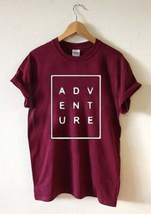 Adventure T-shirt - Black, White and Wine Available