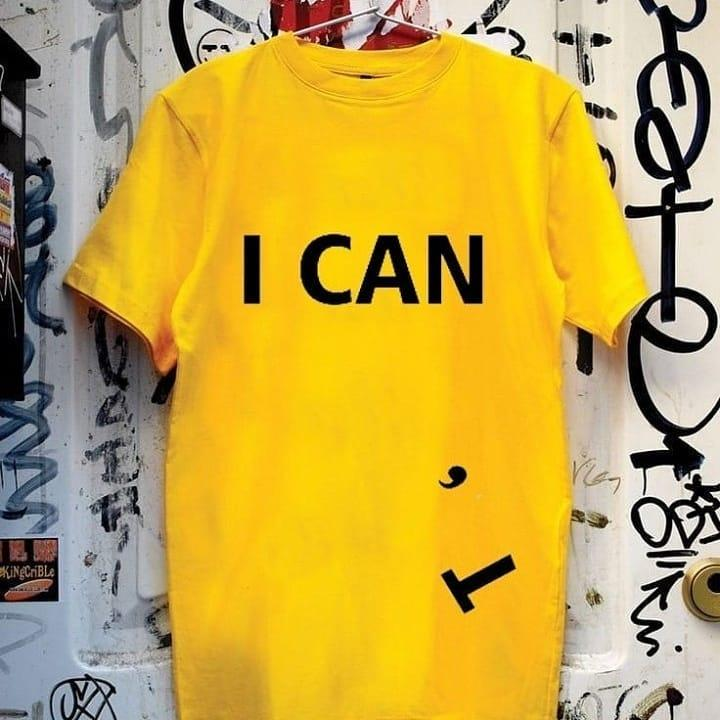 I Can T-shirt - Yellow