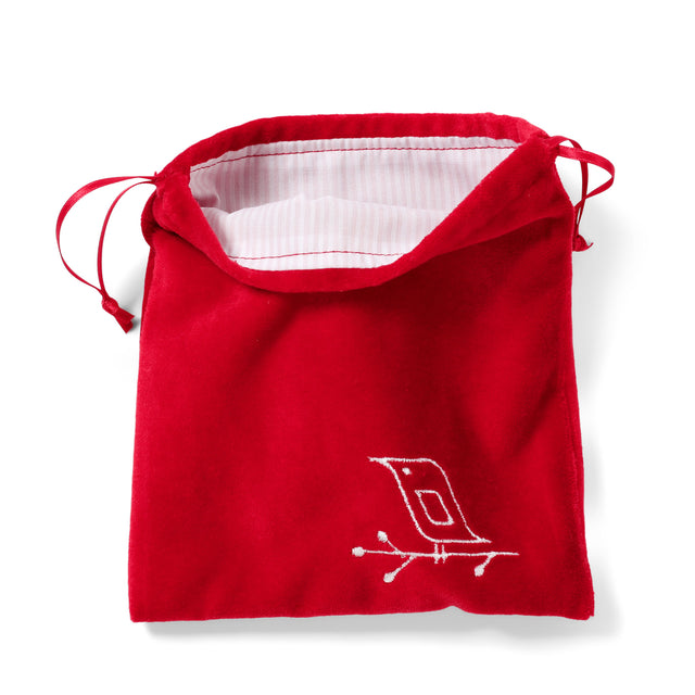 Drawstring bag red velvet