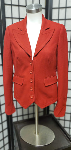 Women's Red 5-Button Blazer