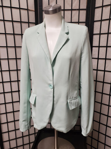 Women's Tea Green 2 Button Blazer