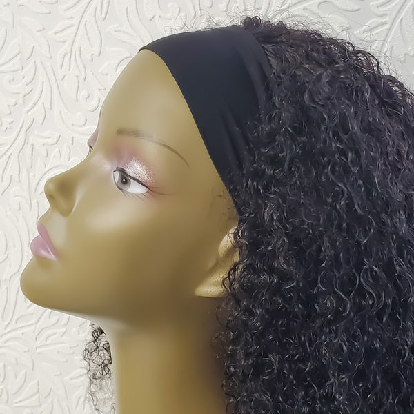 "16"" Kinky Curl Headband Wig Unit"