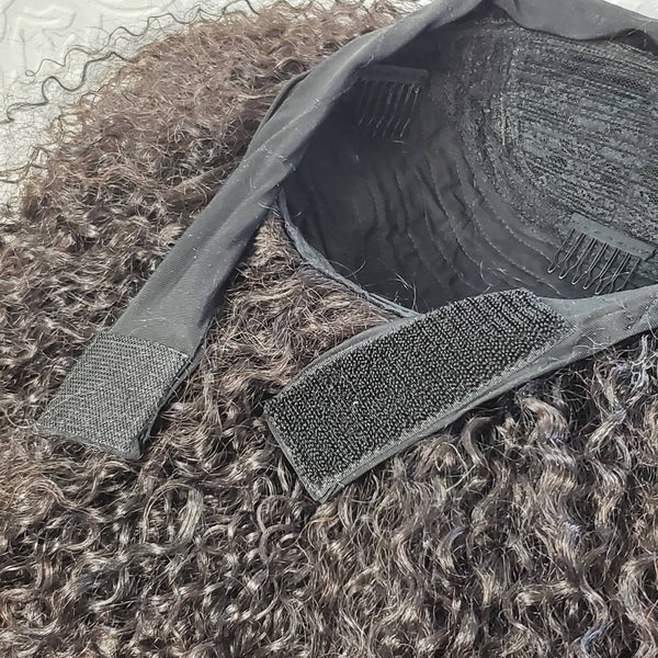 "14"" Kinky Curly Headband Wig Unit"