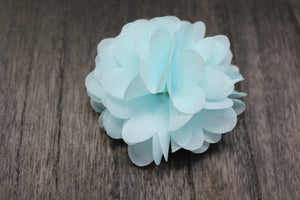 Light Blue Floral Lapel Pin
