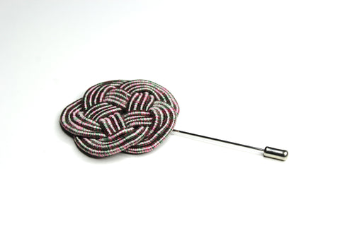 Pink & Green Woven Lapel Pin
