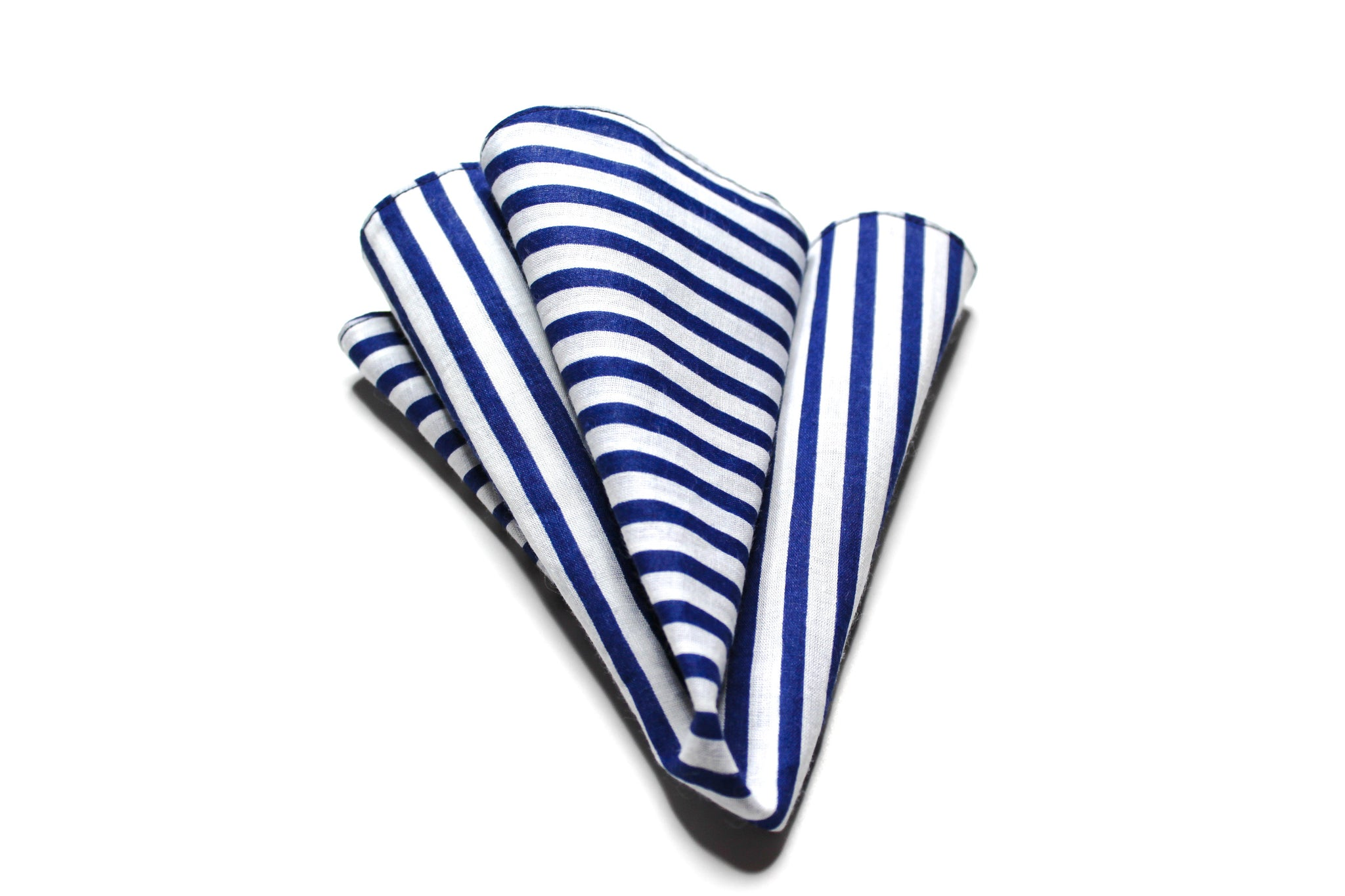 Blue & White Pinstripe Pocket Round