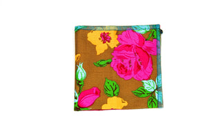 Earthy Floral Pocket Square