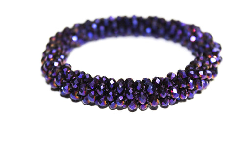 Amethyst Rope Beaded Bracelet
