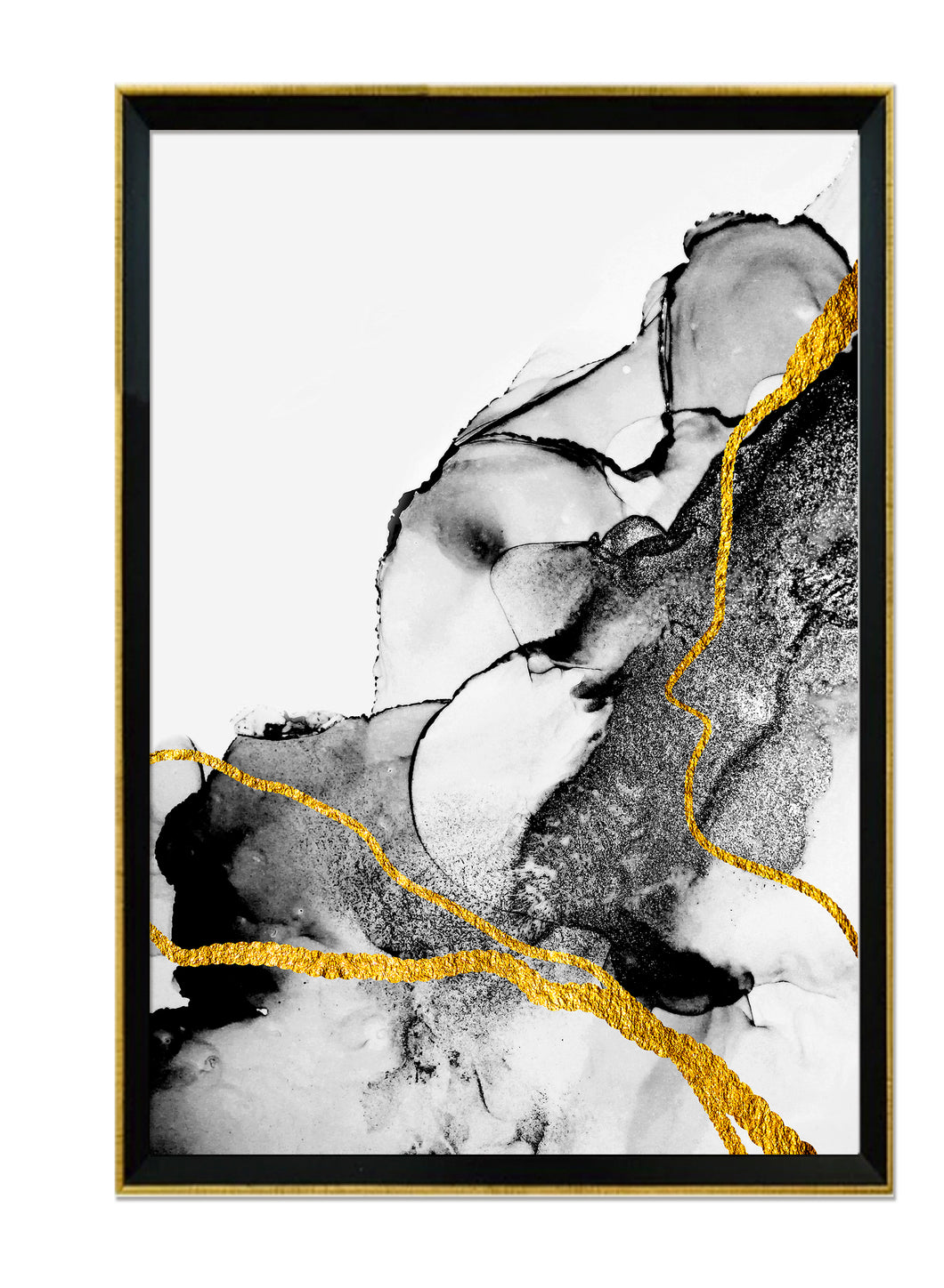 Abstracto Black & Gold II