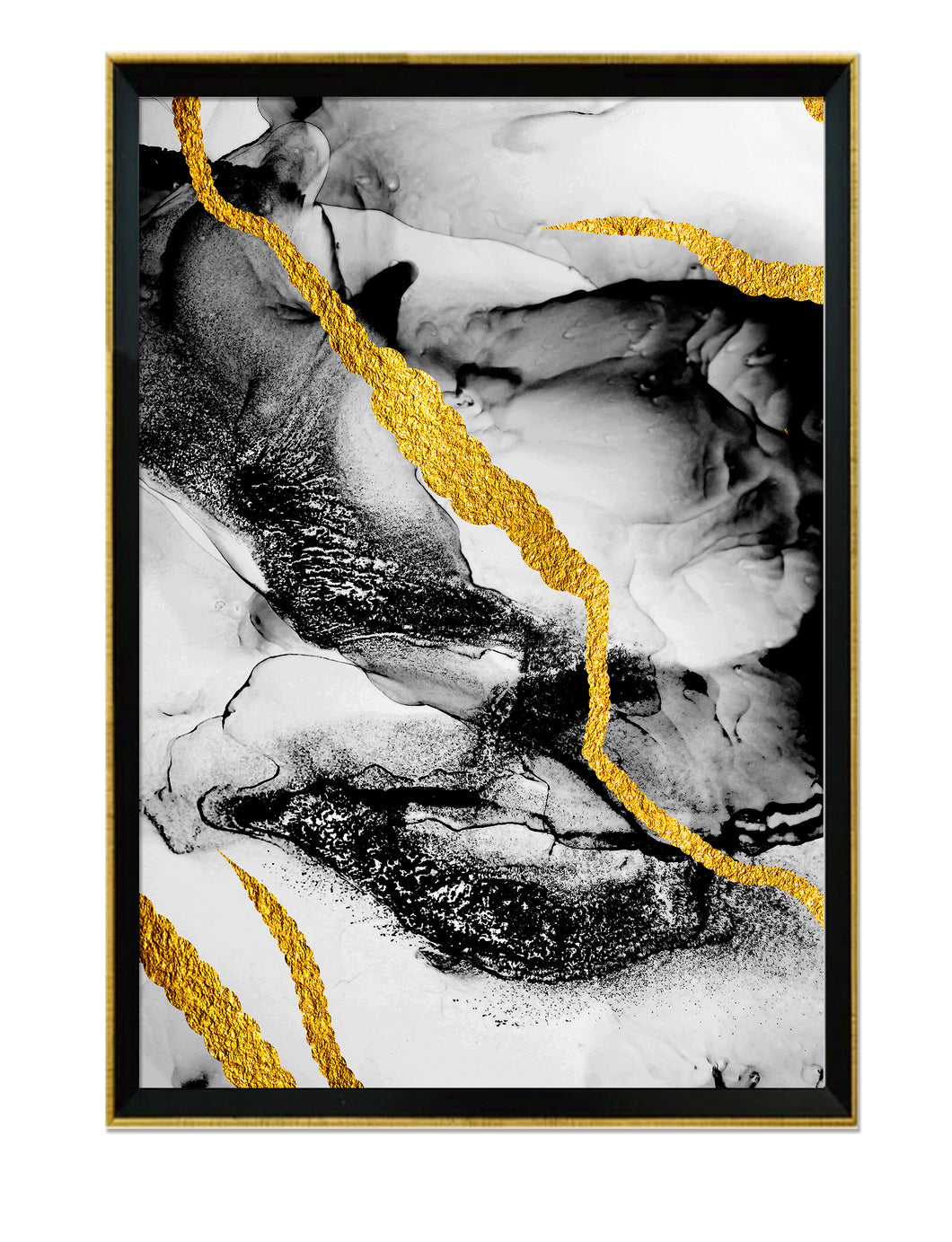 Abstracto Black & Gold I