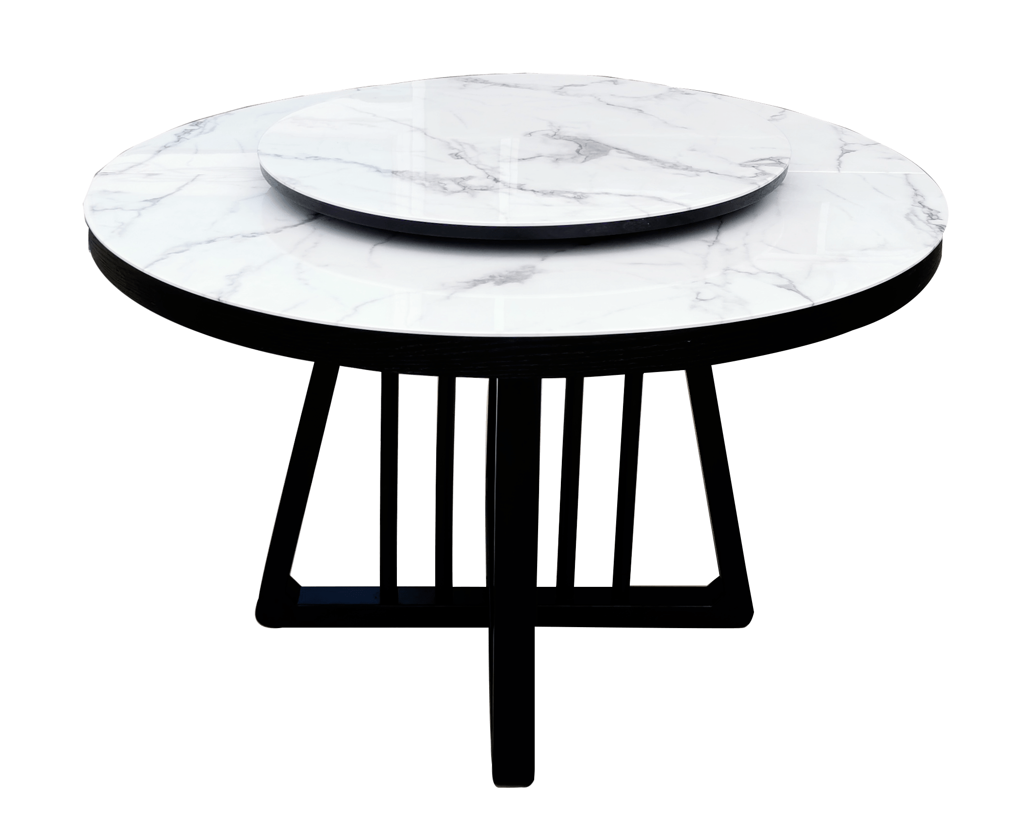 Dining Table (Extendable) -  Regal Luxe Marble Top Round - Italhouse
