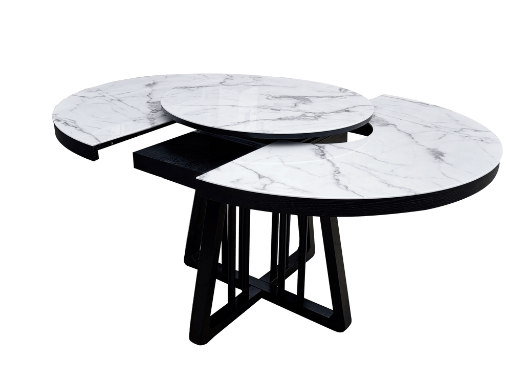 Dining Table (Extendable) -  Regal Luxe Marble Top Round