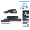3 Seater Ashby L-Shaped Sofa w/ fully washable fabric