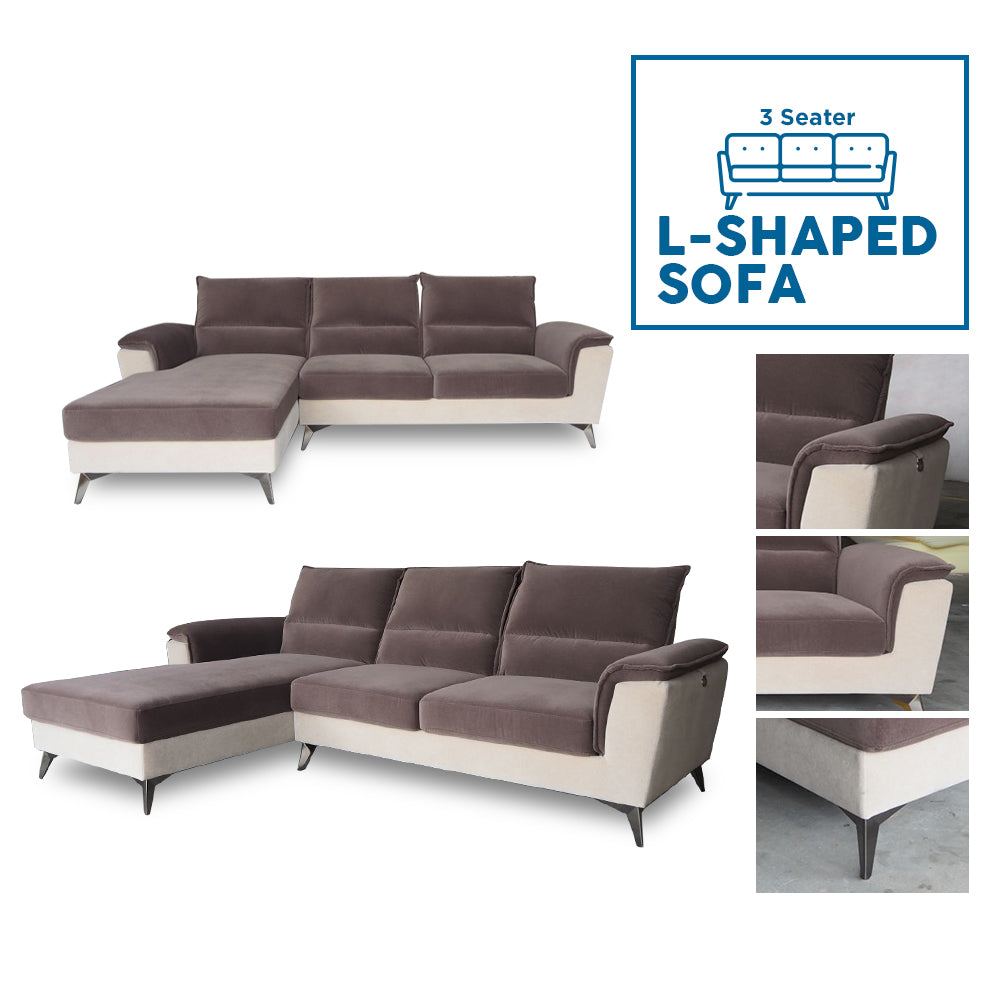 3 Seater Rosberg L-Shaped Sofa