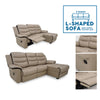 3 Seater Flow L-Shaped Sofa w/ footrest seat