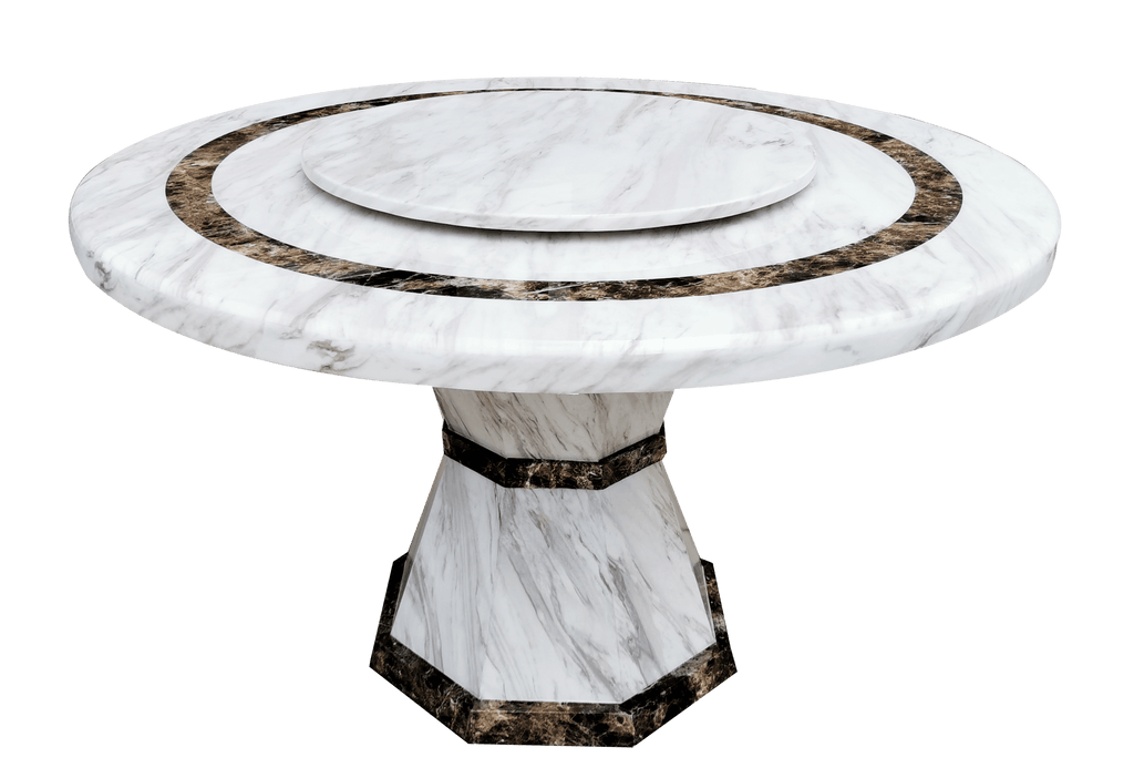 Dining Table -  Regal Luxe Marble Top Round
