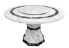 Dining Table -  Regal Luxe Marble Top Round - Italhouse