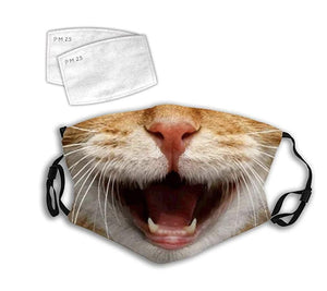 Happy Kitty Face, with 2 Carbon Pocket Filters-Furbaby Friends Gifts