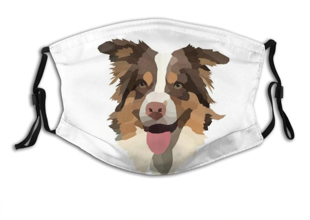 Australian Shepherd Dog, with 2 Pocket Carbon Filters-Furbaby Friends Gifts