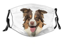 Load image into Gallery viewer, Australian Shepherd Dog, with 2 Pocket Carbon Filters-Furbaby Friends Gifts