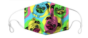 Pug Lovers Face Masks, with 7 Free Carbon Filters-Furbaby Friends Gifts