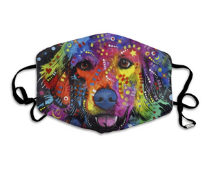 Colourful Retriever, with 2 Carbon Pocket Filters-Furbaby Friends Gifts