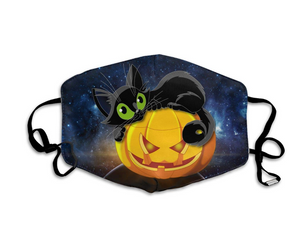 Cute Black Pumpkin Cat, with 2 Carbon Pocket Filters-Furbaby Friends Gifts