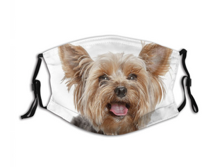 Happy Yorkie, with 2 Carbon Pocket Filters-Furbaby Friends Gifts