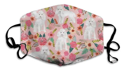 Pink Poodle Face Mask with 2 Free Carbon Filters-Furbaby Friends Gifts