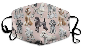 All the Poodles! Adjustable Face Mask with 2 Free Carbon Filters-Furbaby Friends Gifts